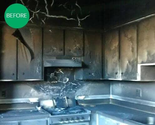 Fire Damaged Kitchen in Phoenix