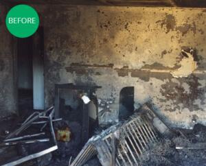 Fire Damaged Room in Phoenix