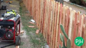 A Rebuilt fence in Phoenix