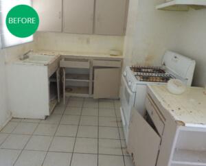 Investment Property Damaged Kitchen In Phoenix